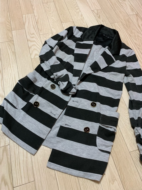 N426/MEO/ブラック×グレー/長袖/ジャケット/  < 女性ファッションの