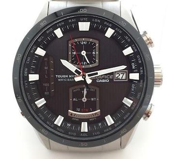 美品正規カシオ時計エディフィス電波時計EQW-A1100メンズク