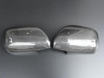リアルカーボンドアミラーカバー ハイエース200ハイラックスサーフ210プラド120
