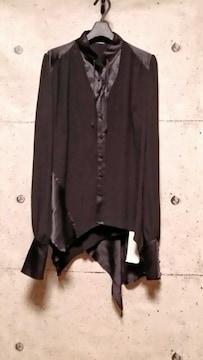 hyde着系新品ROENロエン DRAPE SHIRT M ドレープシルクシャツ