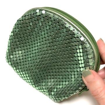 キラキラポーチ グリーン 緑 メタリック