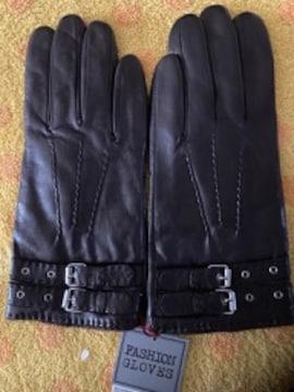 イタリア製ポルトラーノ羊皮革手袋ニットインナーM