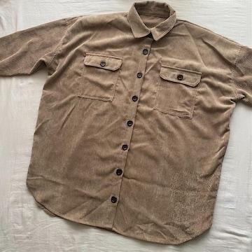 コーデュロイシャツ