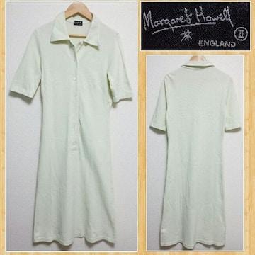 MARGARET HOWELL マーガレットハウエル ロングワンピース ポロシャツ 2