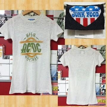 JUNK FOOD ジャンクフード ACDC コラボ Tシャツ S 美品