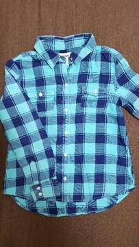 オールドネイビー OLD NAVY M チェックシャツ 130くらい