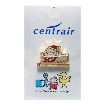 ピンバッジ 中部国際空港セントレア 2007年クリスマス限定 なぞの旅人フー(小)