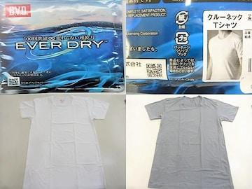 �G2枚(M白灰)BVD★クルーネックTシャツ ED003PS EVERDRY薄手