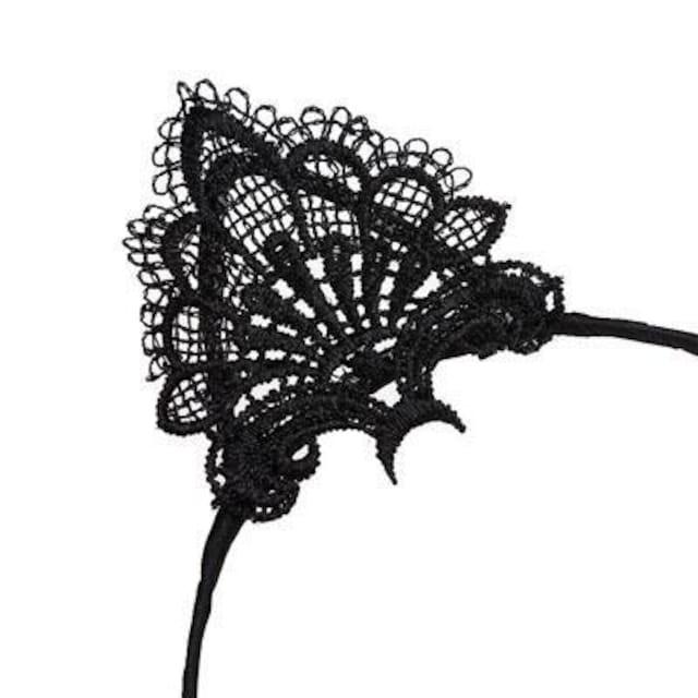 新品[7424]黒☆猫耳レースの可愛いカチューシャ/ゴスロリ < 女性アクセサリー/時計の