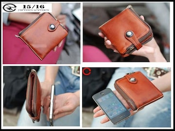 新品 フィフティンシクスティン1516 箱付き 皮 スナップ式財布-8