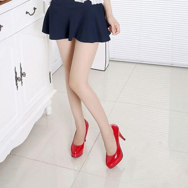 厚底 エナメル ★11�pピンヒール★ ハイヒール(22�p、赤) < 女性ファッションの