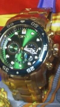 INVICTAPRODIVER200Mクロノグラフ腕時計ロレックスグリーンサブマリーナ風