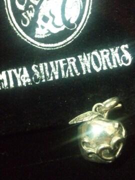 ミヤ シルバーワークス【38 Silver WORKS】アップル SV シルバー ペンダント トップ
