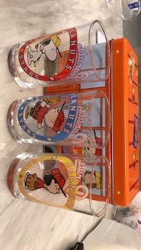 ★スヌーピー★グラスセット★3個★缶付き