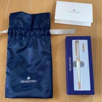 SWAROVSKIスワロフスキー/クリスタルボールペン/干支ネズミ/本物