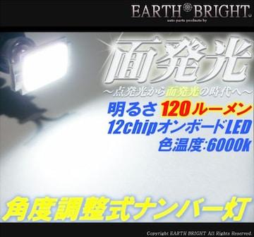 2球)♭△T10面発光 角度調整式ナンバー灯 エスクァイア ルミオン フィールダー