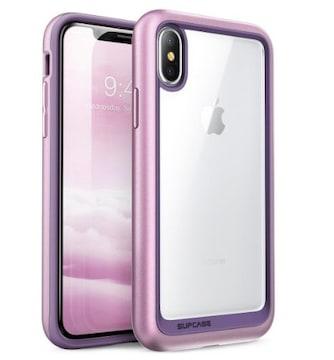 アイフォンX ハイブリッドケース 紫