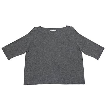 新品ヴァレンチノVALENTINOカシミヤ100%半袖ニット#Lセーター