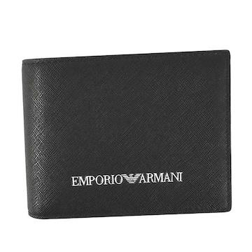 ◆新品本物◆エンポリオアルマーニ 2つ折財布(BK)『Y4R165 Y020V』◆