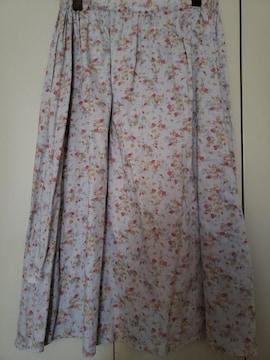 TSUHARU by SM2☆手描き風の花柄が可愛い☆ギャザースカート