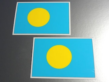 ■パラオ国旗ステッカー2枚セット即買■