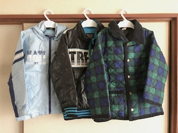 美品から中古キッズ子供服ジャンパージャンバー3枚まとめ売りサイズ120cm