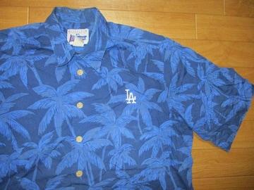 レインスプーナー MLB ドジャーズ アロハシャツ L