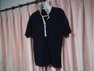 Gainerのポロシャツ(M)ブラック!。