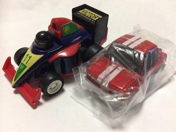 チョロQ・F1 F11シャーシ、ちびっこ日産ブルーバード510赤