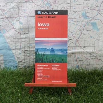 新品【輸入地図】Iowa/アイオワ州 State Map -Rand McNally-