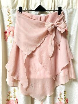 レスト ローズ  スカート 薄ピンク色 キラキラ