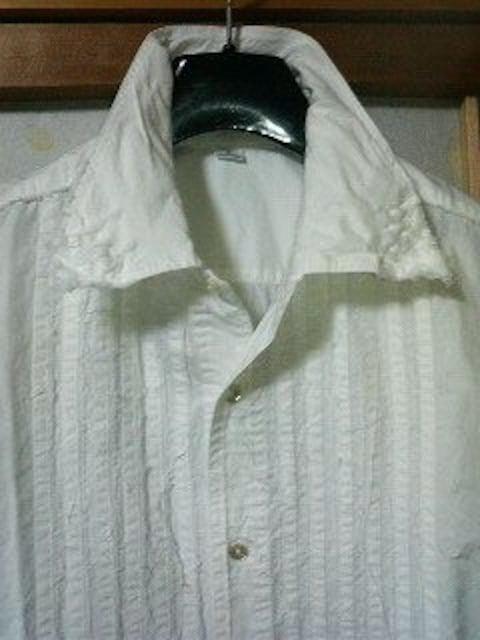 フィッチェ〓ノースリーブワッペンデザインシャツ〓白〓 < 男性ファッションの