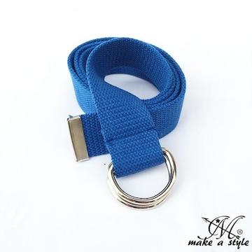 D-RING Dリング ダブルリング キャンバス ベルト ブルー 青 329