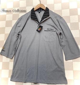 Franco Collezioni(M)二重変化衿七分袖ドレスポロシャツ