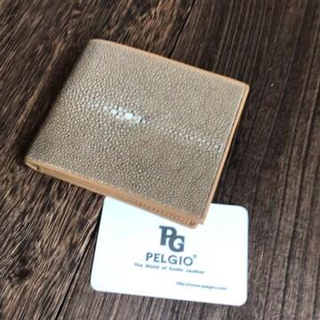 PELGIO スティングレイ エイ革 ガルーシャ ポリッシュ 財布 茶