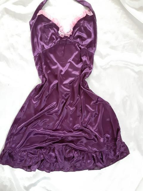 +。:.゜ツルスベ艶々トロントロンsexyスリップ紫L。+゜ < 女性ファッションの