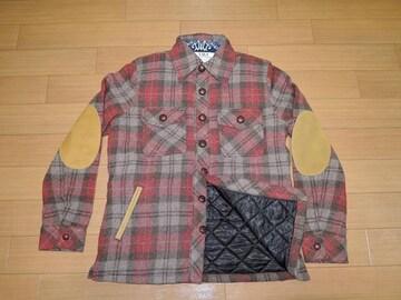 新品TMTチェック柄ウールジャケットSショートコートキルティング