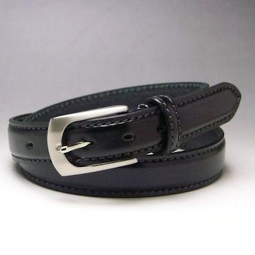 姫路レザー 本革 ビジネス ベルト53ブラック新品 栃木