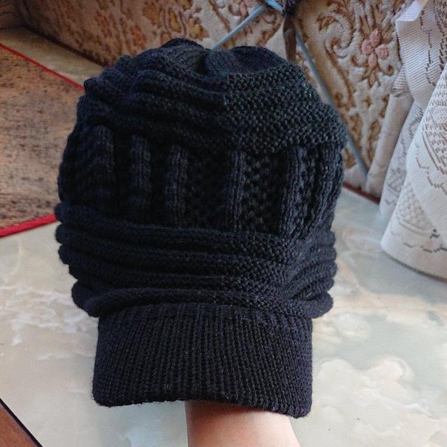 【バラ不可】men's/lady's つば付きニット帽/ベージュニット帽 < 男性ファッションの