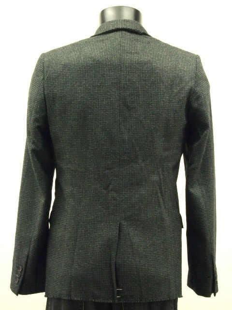 wizzaed 2B千鳥格子柄ウールテーラードジャケット < 男性ファッションの