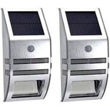 シルバー 【シルバー 2個セット】ZAZ 屋外 LED センサーライト