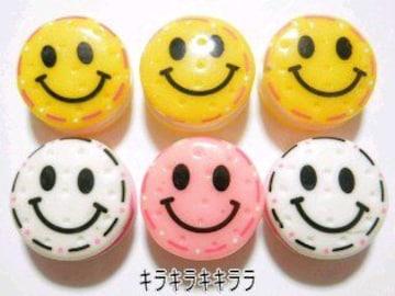 デコパーツスマイル*ニコちゃん(サンドver)3色6個セット