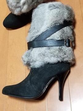 ◆リアルファー&ベルト付ブーツ◆