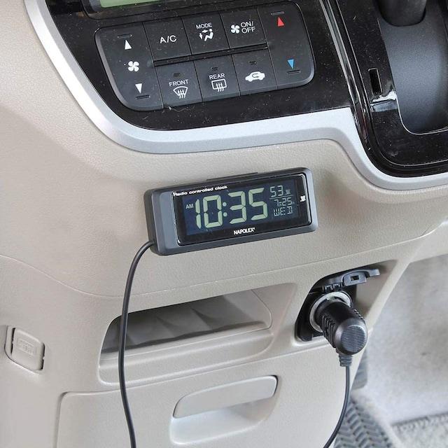 ナポレックス 車用 電波時計 カープラグ給電 < 自動車/バイク