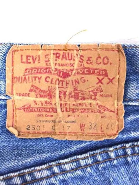 Levis(リーバイス)82年 501 赤耳モデル 黒カンヌキ 内股シングル 鉄リベット 刻印 < 男性ファッションの