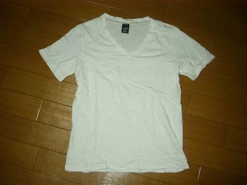 ナンバーナインNUMBER(N)INEカットソー2白V字Tシャツ無地