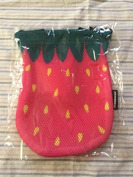 スターバックス/ふたごのいちごバッグ(レッド)巾着/未使用
