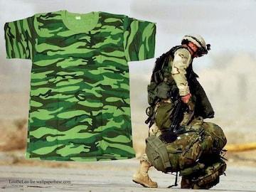 新品 Cotton Jungle Camoflage キャモフラ T−シャツ CP-110