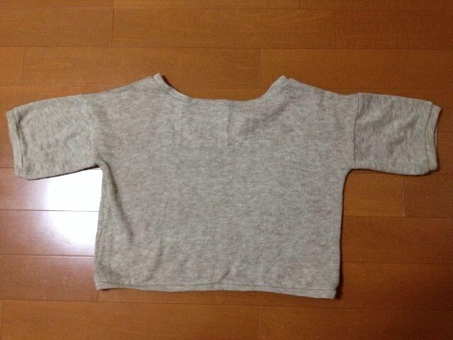 送料込み♪☆ショート丈半袖トップス(*^_^*)カジュアル、重ね着 < 女性ファッションの