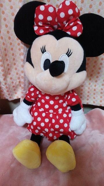☆ミニーマウスぬいぐるみ、リュックにも < おもちゃの